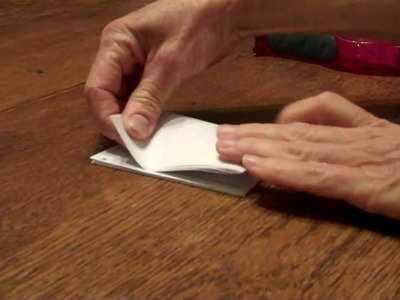 Print, fold, cut. Make your own mini calendar.wmv