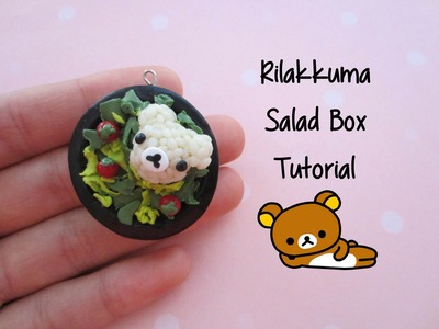 Rilakkuma Salad Box Tutorial [polymer clay]