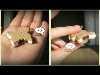 Tutorial Biscotto Gelato - Ice Cream Cookie (Fimo.Cernit.Premo.Polymer Clay)