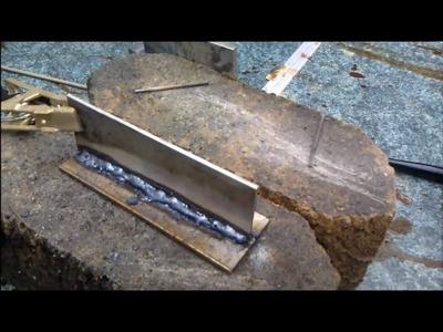 Welding with Harbor Freight 80 Amp Inverter Arc  Stick Welder