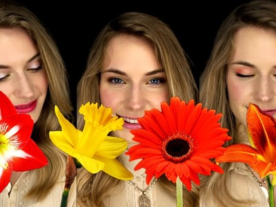 3 Easy Simple Makeup Looks for Beginners. Flowers Inspired Makeup Tutorial. Flower TimeLapse.