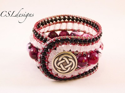 5 row wrap around bracelet