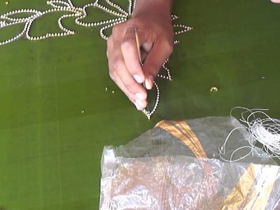A full Design of Paani chain in Aari or Maggam work   tutorial 2