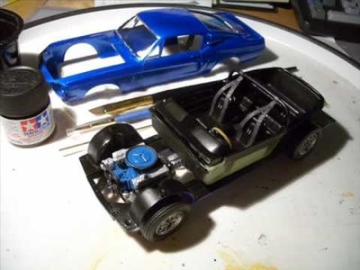 AMT 1968 Ford Mustang GT-500 model build