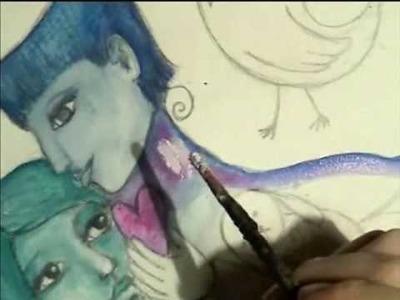 Chagall Inspired Mixed Media