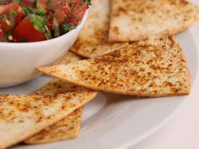 Crispy Baked Tortilla Chips Recipe - Laura Vitale - Laura in the Kitchen Episode 378