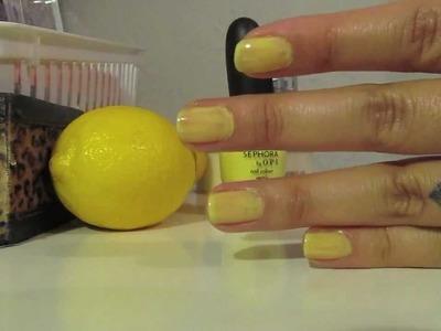 DIY Lemon Sugar hand scrub!!