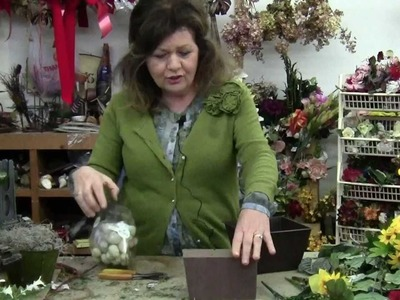 Easter Flower Arrangements | Easter Table Decorations using Silk Flowers Arrangement 1