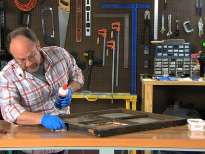Elmer's Hardware How-to: Fixing a Wooden Window Frame using Elmer's Rotted Wood Stabilizer