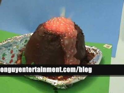 Erupting Volcano Cake of DOOM