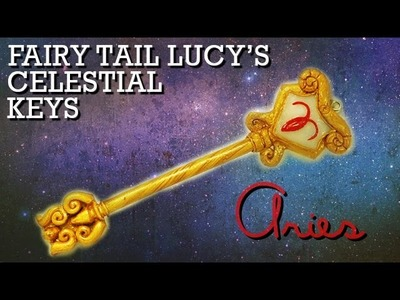 Fairy Tail Lucy's Celestial Key Polymer Clay Tutorial (Aries)