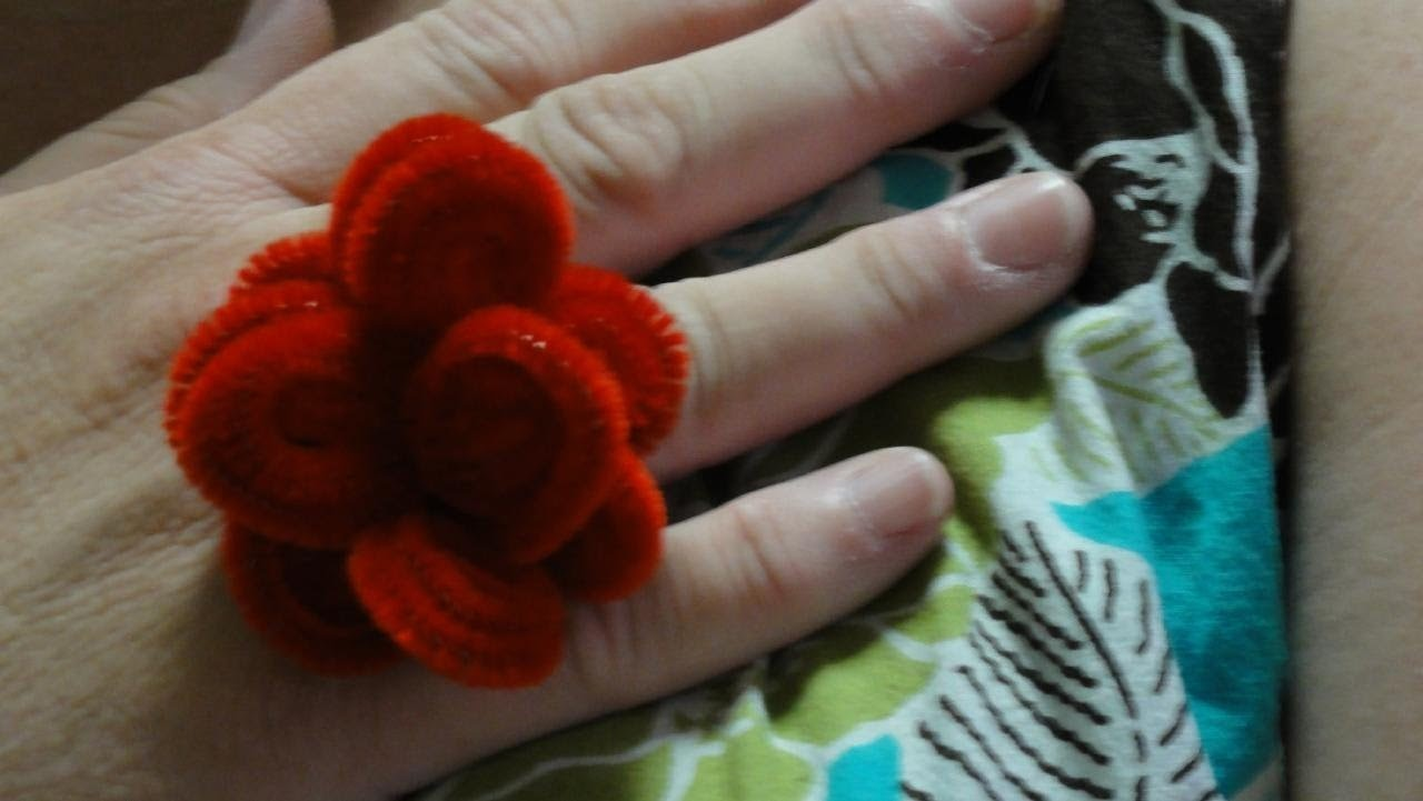 Flower Ring -- Pipe Cleaner Jewelry