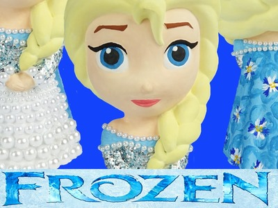 FROZEN ELSA DRESS Paint Your Own Doll Princess Costume Design Glitter Pearls How-To Toys