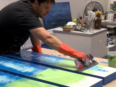 How to Artist Demo Studio Abstract Painting Gloss. Resin Art by Shane Townley