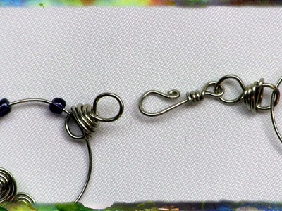 How to Construct the Wire Wrap Hook and Eye Clasp, Basic Jewelry Design