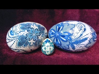 How to Create Delft Inspired Porcelain Pottery Blue Eggs using Pysanky Batik Techniques