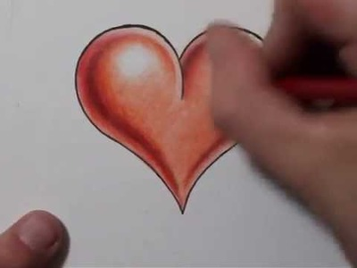 How to Draw a Heart Shape and Add 3D Shading - Real Time Sketch