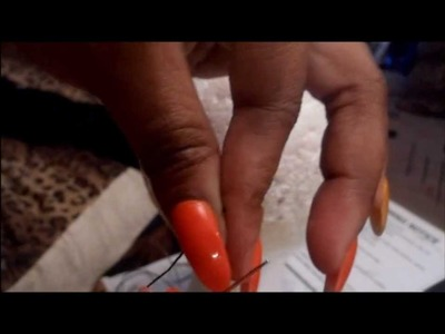 How To:Easy way to thread a needle for sew in(esp if you have Long nails)