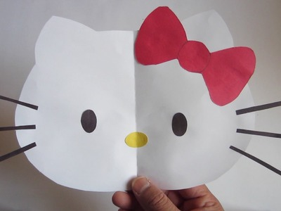 How to Make Hello Kitty: Color Paper Tutorial