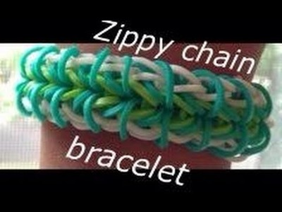 How to make the zippy chain rainbow loom bracelet