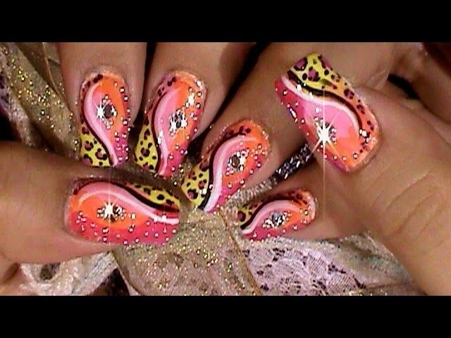 Leopard Princess Psychedelic Nails