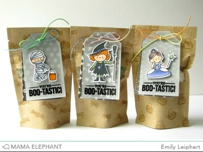 {Mama Elephant} Bootastic Treat Bag Tags
