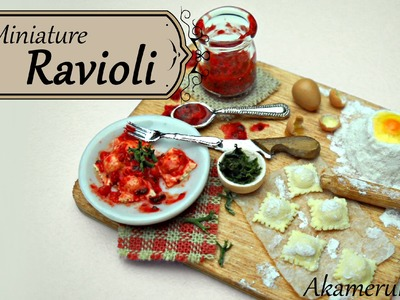 Miniature Ravioli Scene - Polymer Clay Tutorial