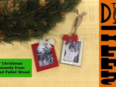 Pallet Wood Christmas Ornament Picture Frames 017