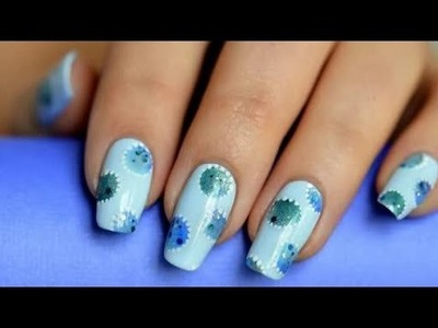 Panic nail art-Watercolors Nail Art-no brush