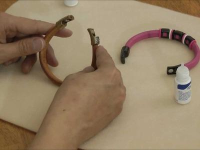 Pave Claps for Regaliz® Leather Cord Glueing Technique
