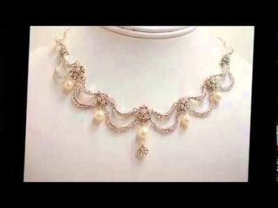 Pearl necklace wedding jewelry
