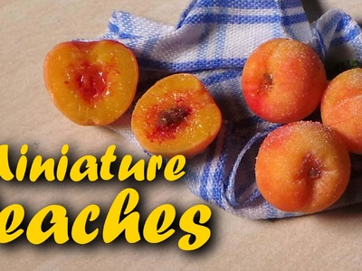 Polymer Clay Miniature Peaches - Tutorial