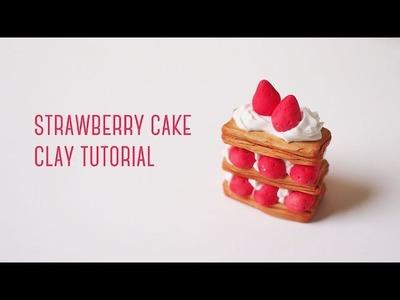 Polymer Clay Strawberry Cake Tutorial