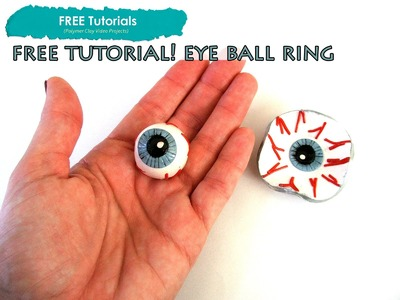 PolyPediaOnline TV - FREE How to Halloween Polymer Clay EyeBall Ring or Bowl Tutorial