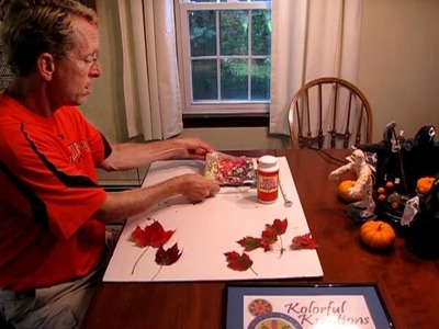 Preserving Fall leaves for Decorations  Episode #6