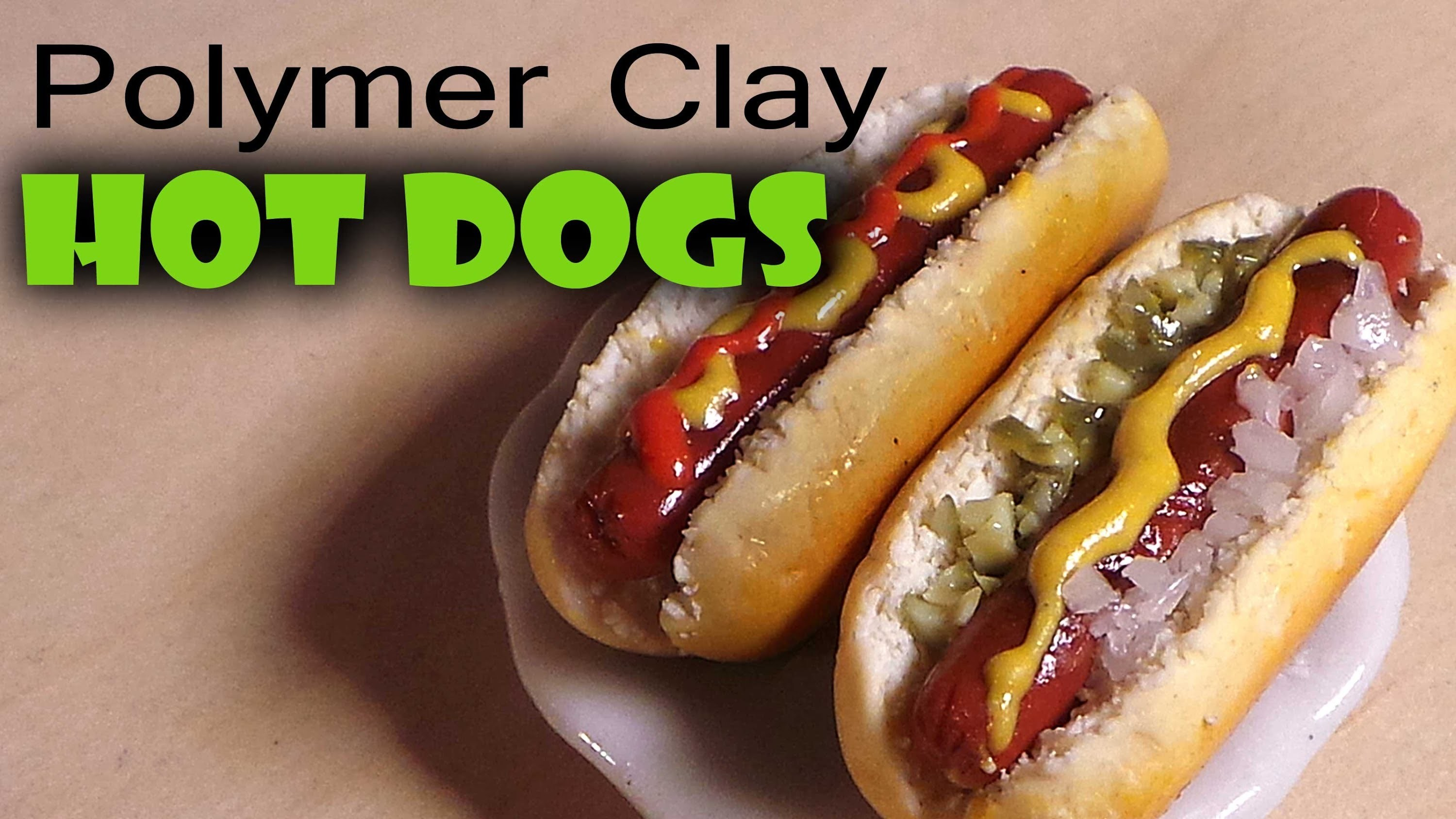 Quick.Easy Polymer Clay Hot Dog Tutorial