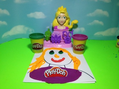 RAPUNZEL PLAY-DOH tutorial Disney Princess How to Make a Play Doh Rapunzel Picture Playset