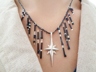 Star of Bethlehem Necklace Tutorial | eclecticdesigns
