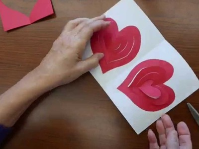 Valentine's Day Pop-up Greeting Card with a Double Spiral Heart