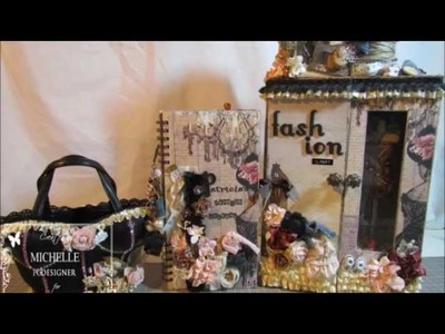 Vintage Shabby Altered Closet, Altered Corset Purse, Smash Journal for Patricia(TUBEYOUMASTER1)