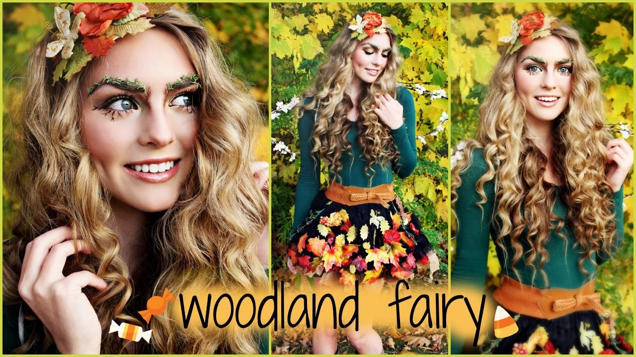 Woodland Forest Fairy Makeup, Hair Tutorial and D.I.Y Costume Idea! - Jackie Wyers