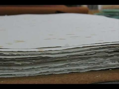 Artisan hand made paper (papel hecho a mano)