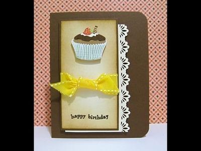 Birthday Cupcake card - Natalie's Creations