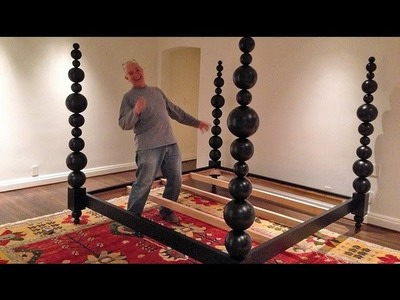 Building a ball four-poster King Bed from scratch