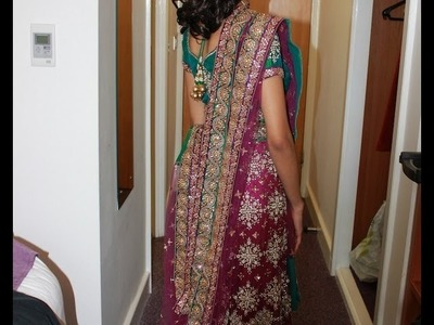 CHANIYA CHOLI DRESSING GUJaRATI STYLE