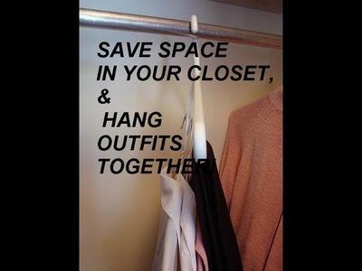 Clothes hanger double duty QUICK TIPS, save room in your closet, how to diy, closet organizer