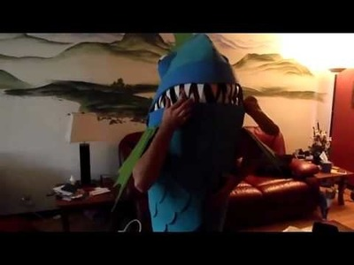 Coolest Homemade Killer Fish Halloween Costume -- Part IV