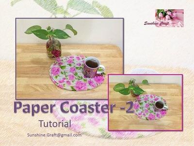 D I Y Paper Coaster 2 - Tutorial