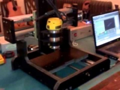 DIY HomeMade Mini CNC Router Engraver Mill Test Run