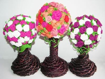 DIY Paper flowers.  Part 3.  Topiary.